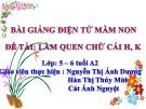 Bài giảng Mầm non: Làm quen chữ cái H, K – Nguyễn Thị Ánh Tuyết