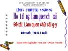 Bài giảng Mầm non: Làm quen chữ cái G, Y – Nguyễn Thị Liên