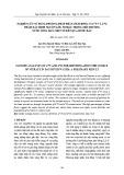 Nghiên cứu sử dụng phương pháp phân tích đồng vị δ 15N và δ 18O nhằm xác định nguồn gốc nitrat trong môi trường nước sông Đáy: Một số kết quả bước đầu