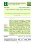 A review on biofortification - To improve nutritional quality of cereals
