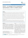 CELDA – an ontology for the comprehensive representation of cells in complex systems
