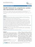 VarioML framework for comprehensive variation data representation and exchange