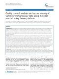 Quality control, analysis and secure sharing of Luminex® immunoassay data using the open source LabKey Server platform