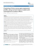 Clustering of time-course gene expression profiles using normal mixture models with autoregressive random effects