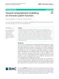 Toward computational modelling on immune system function