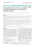 Anti-apoptotic effects of IGF-I on mortality and dysmorphogenesis in tbx5-deficient zebrafish embryos
