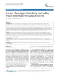 A novel phenotypic dissimilarity method for image-based high-throughput screens