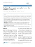 Variational attenuation correction in two-view confocal microscopy