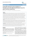 Using PPI network autocorrelation in hierarchical multi-label classification trees for gene function prediction