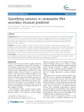 Quantifying variances in comparative RNA secondary structure prediction
