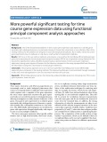 More powerful significant testing for time course gene expression data using functional principal component analysis approaches