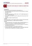 Bài giảng Kiểm toán căn bản - Bài 1: Bản chất, chức năng và ý nghĩa của kiểm toán