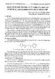 Phân tích phổ 1H-NMR và 13C-NMR của một số furfural aroylhidrazon chứa nhóm thế