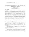 Các bước biên soạn tài liệu dạy - học môn Tiếng Anh chuyên ngành sinh học