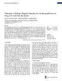 Tổng hợp và đánh giá động học hấp phụ của vật liệu graphit tróc nở trong xử lí nước thải dệt nhuộm