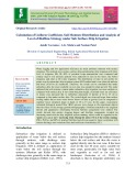 Calculation of uniform coefficient, soil moisture distribution and analysis of level of biofilms strategy under sub surface drip irrigation