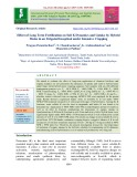 Effect of long term fertilization on soil k dynamics and uptake by hybrid maize in an irrigated inceptisol under intensive cropping