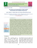 Development and standardization of ripe pumpkin based squash and its stability during storage