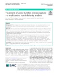 Treatment of acute Achilles tendon rupture – a multicentre, non-inferiority analysis