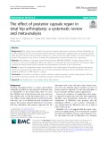 The effect of posterior capsule repair in total hip arthroplasty: A systematic review and meta-analysis