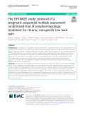 The OPTIMIZE study: Protocol of a pragmatic sequential multiple assessment randomized trial of nonpharmacologic treatment for chronic, nonspecific low back pain