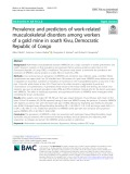 Prevalence and predictors of work-related musculoskeletal disorders among workers of a gold mine in south Kivu, Democratic Republic of Congo