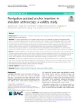 Navigation-assisted anchor insertion in shoulder arthroscopy: A validity study