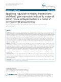 Epigenetic regulation of histone modifications and Gata6 gene expression induced by maternal diet in mouse embryoid bodies in a model of developmental programming