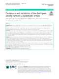 Prevalence and incidence of low back pain among runners: A systematic review