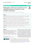 Radiographic performance depends on the radial glenohumeral mismatch in total shoulder arthroplasty