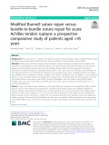 Modified Bunnell suture repair versus bundle-to-bundle suture repair for acute Achilles tendon rupture: A prospective comparative study of patients aged <45 years
