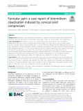 Funicular pain: A case report of intermittent claudication induced by cervical cord compression