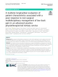 A multisite longitudinal evaluation of patient characteristics associated with a poor response to non-surgical multidisciplinary management of low back pain in an advanced practice physiotherapist-led tertiary service