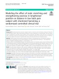 Modeling the effect of static stretching and strengthening exercise in lengthened position on balance in low back pain subject with shortened hamstring: A randomized controlled clinical trial