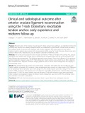 Clinical and radiological outcome after anterior cruciate ligament reconstruction using the T-lock Osteotrans resorbable tendon anchor: Early experience and midterm follow-up