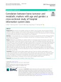 Correlation between bone turnover and metabolic markers with age and gender: A cross-sectional study of hospital information system data