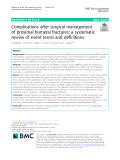 Complications after surgical management of proximal humeral fractures: A systematic review of event terms and definitions