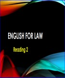 Lesson English for Law – Reading 2