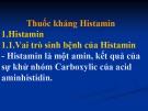 Bài giảng Dược lý học: Thuốc kháng Histamin