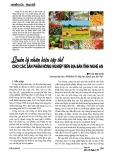 Quản lý nhãn hiệu tập thể cho các sản phẩm nông nghiệp trên địa bàn tỉnh Nghệ An