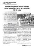 Diễn biến năng lực thể chất của học sinh một số trường trung học cơ sở trên địa bàn tỉnh Hải Dương