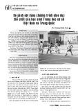 So sánh nội dung chương trình giáo dục thể chất của học sinh Trung học cơ sở Việt Nam và Trung Quốc