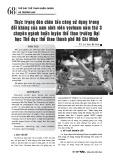 Thực trạng đòn chân tấn công sử dụng trong đối kháng của nam sinh viên vovinam năm thứ 3 chuyên ngành huấn luyện thể thao trường Đại học Thể dục thể thao thành phố Hồ Chí Minh