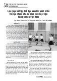 Lựa chọn bài tập thể dục aerobic phát triển thể lực chung cho nữ sinh viên học viện Nông nghiệp Việt Nam
