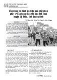 Ứng dụng và đánh giá hiệu quả giải pháp phát triển phong trào thể dục thể thao huyện Lệ Thủy, tỉnh Quảng Bình