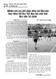 Nghiên cứu các giải pháp nâng cao hiệu quả hoạt động Thể dục Thể thao của sinh viên Học viện Tài chính