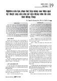 Nghiên cứu lựa chọn bài tập nâng cao hiệu quả kỹ thuật cúp cầu cho nữ vận động viên đá cầu tỉnh Đồng Tháp