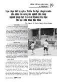 Lựa chọn bài tập phát triển thể lực chuyên môn cho sinh viên chuyên ngành cầu lông ngành giáo dục thể chất trường Đại học Thể dục thể thao Bắc Ninh