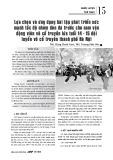 Lựa chọn và ứng dụng bài tập phát triển sức mạnh tốc độ nhóm đòn đá trước cho nam vận động viên võ cổ truyền lứa tuổi 14 - 15 đội tuyển võ cổ truyền thành phố Hà Nội