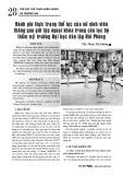 Đánh giá thực trạng thể lực của nữ sinh viên thông qua giờ tập ngoại khóa trong câu lạc bộ thẩm mỹ trường Đại học dân lập Hải Phòng